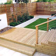 Architectural garden design for small garden