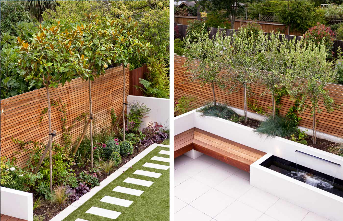 Long thin garden design family garden design for Small narrow garden designs