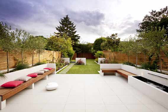 Long Thin Garden Design Family Garden Design
