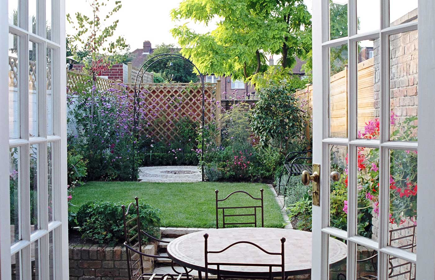 urban garden design for a long garden garden design
