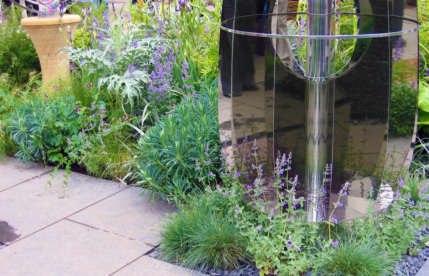Informal planting onChelsea Flower Show stand