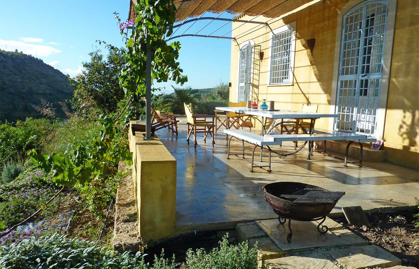 Mediterranean garden design for rural garden in sicily - Mediterranean terrace design ideas ...